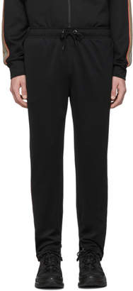Burberry Black Icon Stripe Sorrento Lounge Pants
