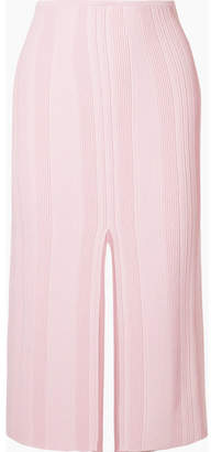 Proenza Schouler Ribbed Stretch-knit Midi Skirt - Baby pink