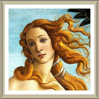 "Sandro Alonline Art - Venus Botticelli Biege FRAMED POSTER (Print on 100% Cotton CANVAS on foam board) - READY TO HANG | 24""x24"" | Framed Paints Framed Wall Art Giclee For Bedroom Framed Artwork"