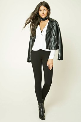 FOREVER 21+ Contemporary Elastic Paneled Leggings $5.90 thestylecure.com