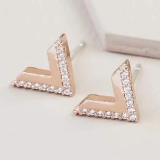 6ec426d55 Lisa Angel Crystal Chevron Stud Earrings
