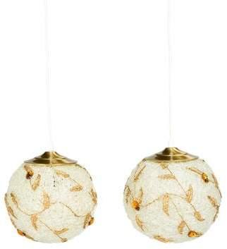 Pair of Glass Pendant Lights