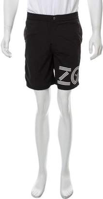 Kenzo Graphic Print Swim Trunks w/ Tags