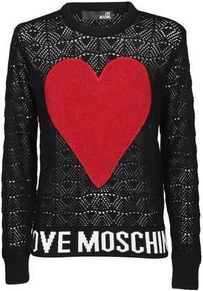 Love Moschino Contrast Heart Sweater