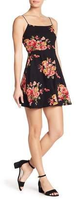 Socialite Floral Fit & Flare Mini Dress