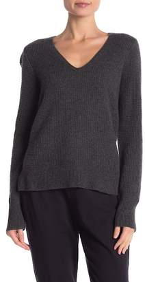 James Perse Thermal V-Neck Long Sleeve Cashmere Sweater