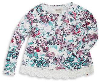 Lucky Brand Girls 7-16 Crocheted Floral Top $42 thestylecure.com