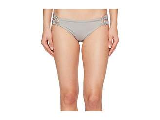 Dolce Vita Solids Bottom with Macrame Side Inserts Women's Swimwear