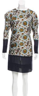 Balenciaga Floral Print Mini Dress