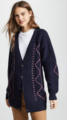 Vilshenko Ruth Cable Knit Cardigan