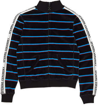 Opening Ceremony Striped Velour Track Jacket