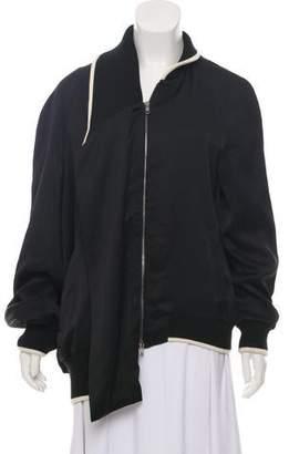 Maison Margiela Rib Knit-Trimmed Zip-Up Jacket