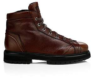 Santoni Women's Lace-Up Leather Ankle Boots
