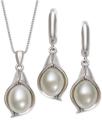 4ab78a750 Macy's Cultured Freshwater Pearl (8-9mm) 18