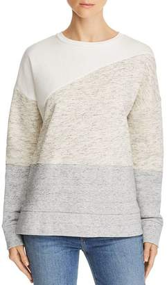 French Connection Color-Blocked Crewneck Sweatshirt
