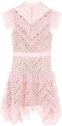 Self-Portrait Self Portrait Lace Mini Dress