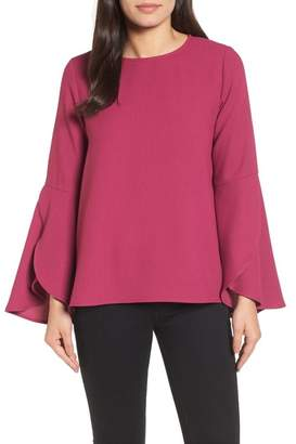Halogen Bell Sleeve Top (Regular & Petite)