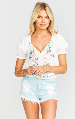 Show Me Your Mumu Lucy Top ~ Once Upon a Flower Embroidery