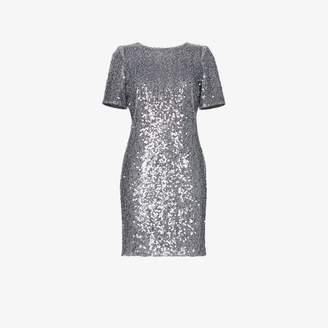 fcd2f3822f6 Galvan Sequin embellished scoop back mini dress