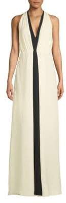 Valentino Sleeveless Silk Floor-Length Dress
