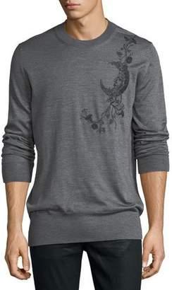 Alexander McQueen Cashmere-Blend Graphic-Detail Sweater