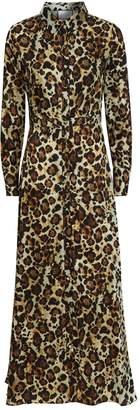 Alexis Onika Leopard Maxi Shirt Dress