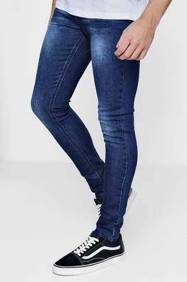 boohoo Super Skinny Fit Washed Denim Jeans