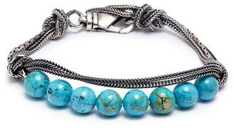 Emanuele Bicocchi Beaded knotted chain bracelet