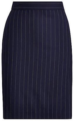 Polo Ralph Lauren (ポロ ラルフ ローレン) - [POLO RALPH LAUREN(ウィメンズ)] ピンストライプ ウール ペンシルスカート