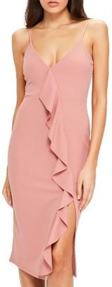 Women's Missguided Ruffle Midi Dress $72 thestylecure.com