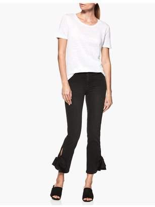 Paige Cassandra Shirt - Optic White Linen Jersey