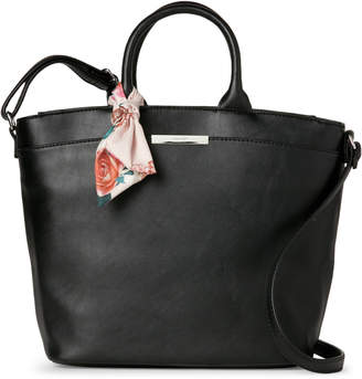Nine West Black & Pink Demmi Satchel