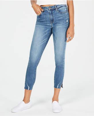 American Rag Juniors' Mid-Rise Razor Raw-Hem Skinny Jeans