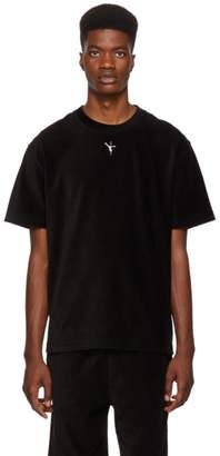 Alexander Wang Black Velvet Ribbed T-Shirt