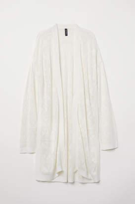 H&M Fine-knit Cardigan - White