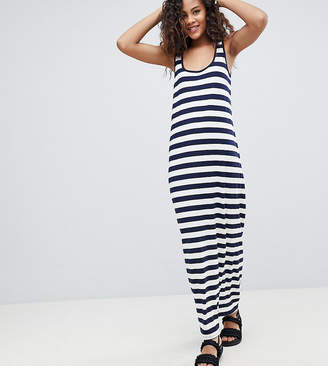 Asos Tall Design Tall Ultimate Maxi Singlet Dress In Stripe