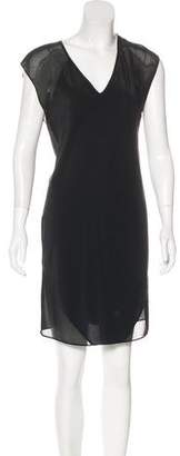 Alexander Wang Sheer-Paneled Silk Dress