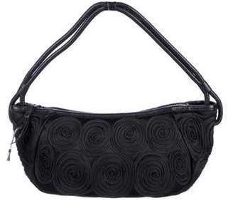 Giorgio Armani Satin Spiral Handle Bag Black Satin Spiral Handle Bag