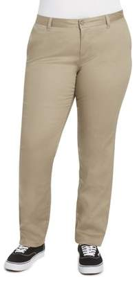 Dickies Juniors' Plus Size Everyday Mid Rise Straight Twill Pant