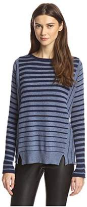 James & Erin Women's Stripe Cashmere Sweater