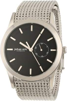 Johan Eric Men's JE1300-04-007 Agersø Stainless Steel Black Dial Date Mesh Bracelet Watch