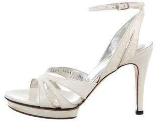 Dolce & Gabbana Patent Leather Peep-Toe Sandals