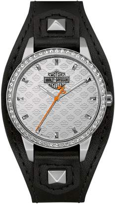Harley-Davidson The Shaped Cuff Stainless Steel Analog Watch