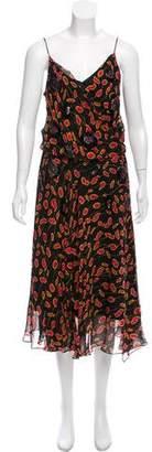 Diane von Furstenberg Embellished Printed Maxi Dress w/ Tags