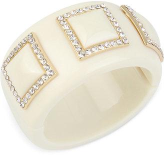 IRIS X INC International Concepts Pavé Acrylic Bangle Bracelet, Only at Macy's $44.50 thestylecure.com
