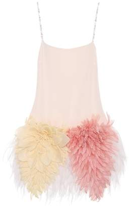 Miu Miu Embellished silk dress