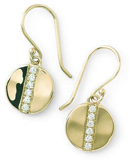 Ippolita 18K Gold SensoTM Small 8mm Disc Earrings with Diamonds