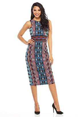 Maggy London Women's Printed Jersey Sleeveless Sheath