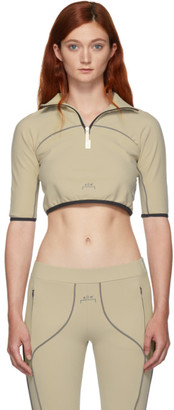 A-Cold-Wall* A Cold Wall* Beige Raglan Crop Zip-Up Turtleneck