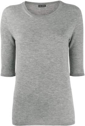 Iris von Arnim short-sleeve knit top